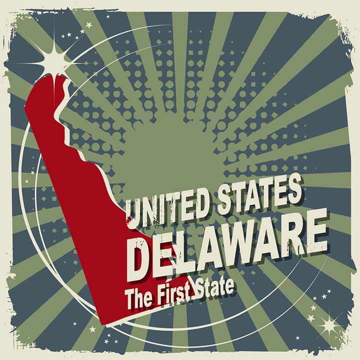abstract delaware map